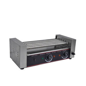 Professional Commercial Hot Dog 5 Roller Grilling Machine Stainless Steel Us