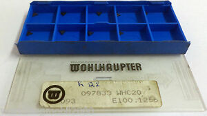 9 Indexable Inserts Inserts 097833 Whc20 E100 1256 Von Wohlhaupter New H7130