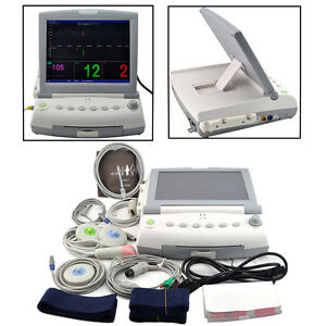 Tft Patient Maternal Fetal Monitor Fhr Toco Fetal Movement Ecg Nibp Spo2 Temp Pr