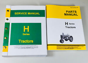 Service Manual Parts Catalog For John Deere H Hn Hnh Hwh Tractor Shop Book Ovhl