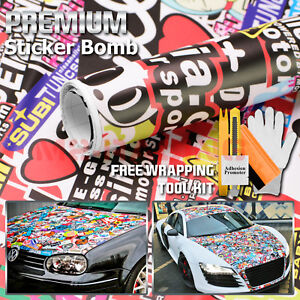 Sticker Bomb Vinyl Wrap Decal Film Graffiti Cartoon Jdm Usdm Sheet Diy Il