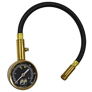 Mooneyes Tire Pressure Gauge Rat Hot Rod Custom Bike Vw Buggy Offroad Race