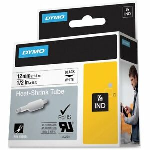Dymo Dym18055 Rhino 6000 Hard Case Kit Heat Shrink Tube Labels Tape 1 2 X 5