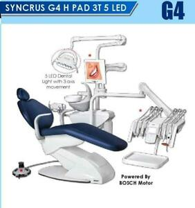 Syncrus G4 He 3t 5 Led Gnatus Dental Chair With Bosch Motor 3 Axis Movement