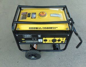 Champion 4000 Watt Gas Portable Gasoline Generator W Wheel Kit 108156 1 Jao