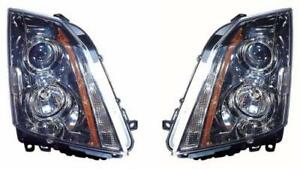 Side pair For 2008 2014 Cadillac Cts Front Headlight Assembly Replacement