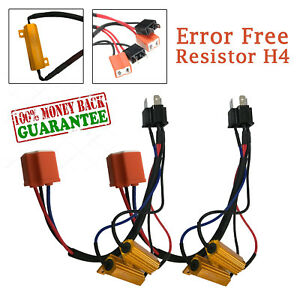 Hid Led H4 Hb2 9003 Error Free Canbus Decoder Canceller Resistor Conversion Kit