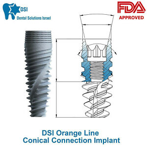 Dsi Dental Implant Conical Connection Active Hex Nobel Active Rp np Ce Iso