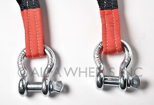 3 6 5 Ton Tow Strap 30 Ft W D ring Winch Sling Off road Atv Utv 4wd Recovery