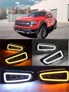 2x Led Drl Daytime Running Light Turn Signal Lamp For Ford Raptor F150 2010 2014
