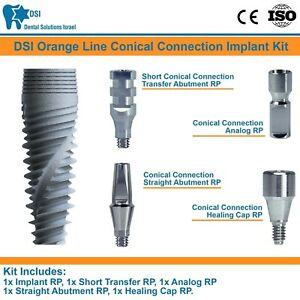 Dsi Dental Implant Conical Connection Nobel Active Hex Full Set Rp Ce Iso