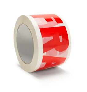168 Rolls Fragile Tape Printed Box Shipping Packing 3 2 Mil 110 Yd