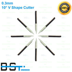 3 175mm 10 Degree 0 3mm V Shape Flat Carbide Pcb Engraving Milling Cutter