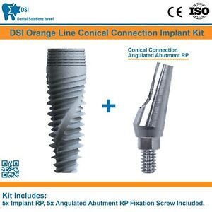 5 Dsi Dental Implant Conical Connection Nobel Active Angulated Abutment Rp Iso