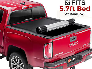 Bak Revolver X4 Tonneau Cover Matte 2009 2018 Dodge Ram With Ram Box 5 7 Ft Bed