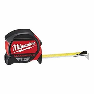 Milwaukee 48 22 7125 Magnetic Tape Measure 25 Ft 1 Pack Red