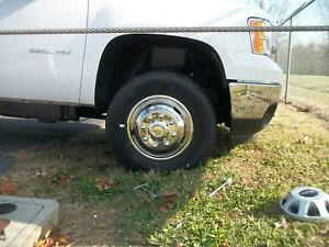 2009 2010 Chevy Gmc 3500 17 8 Lug Dually Wheel Simulators Hub Caps