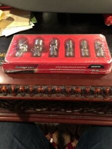 Brand New Snap On Tools 6 Piece 3 8 Drive Sae Universal Socket Set