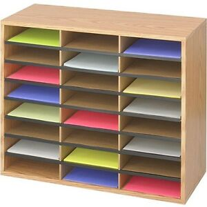Literature Sorter Mail Room Organizer Paper Classroom Home Office Desk Filing