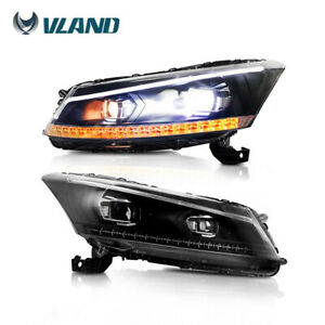 Performance Led Headlights Drl Projector For Honda Accord 2008 2012 Lamps