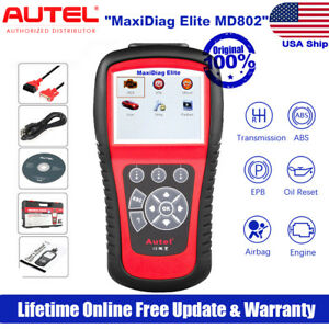 Autel Md802 Auto Diagnostic Scan Tool Obd2 Code Scanner Abs Airbag Oil Reset Epb