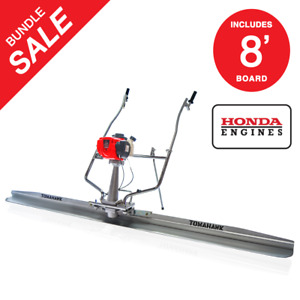 Gas Concrete Wet Screed Power Screed Cement 8ft Board Powered By Honda Gx35