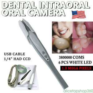 Dental Lab Intra Oral Digital Camera Usb Md740 Clear Focus Imaging 50 Sleeves
