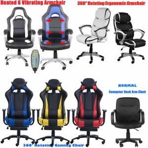 Executive Ergonomic Racing Office Gaming Chair Recliner Computer Desk Brand New