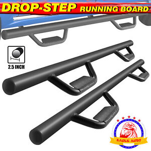 Fit 09 18 Dodge Ram Crew Cab 3 Running Board Side Step Nerf Bar Black B