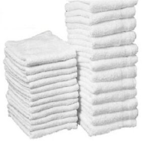 1000 Cotton Terry Cloths Shop Rags Towels Cleaning Wiping Janitorial 12x12