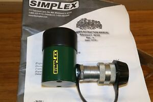 Simplex R101 10 Ton 1 Stroke Spring Return Hydraulic Cylinder Made By Enerpac