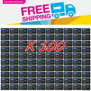 100 Pcs Biometric Fingerprint Attendance Employee Payroll Recorder Tcp ip Usb To