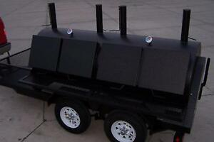 3696 Rotisserie Bbq Grill Smoker Cooker On Trailer By Heartland Cookers