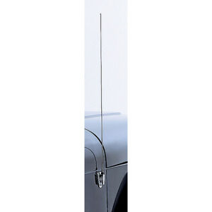 Antenna Mast And Base Cover Stainless Steel 97 06 Jeep Wrangler Tj lju