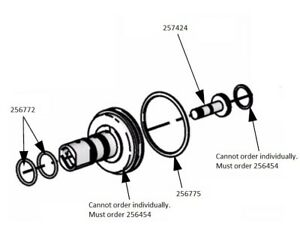 256454 Piston Assembly With O rings Graco Fusion Cs Clearshot