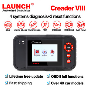 Launch X431 Creader Viii Obd2 Obdii Auto Diagnostic Code Reader Scanner Abs Srs