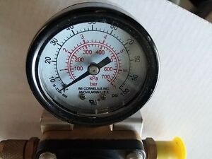 Cornelius Ashcroft 857 a Compressed Gas Regulator Pressure Gauge Style S 100