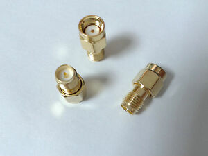 100pcs Rp sma Male Jack Center To Rp sma Female Plug In Series Rf Adapter