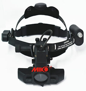Binocular Led Indirect Ophthalmoscope With Rechargeable Battery Miko Mi i700d