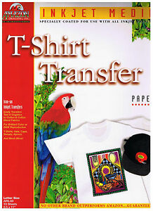 Amazon Imaging 8 5x11 Inkjet T shirt Transfer Paper 25 Pack 10 Total 250 Sheets