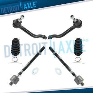 2009 2014 For Nissan Maxima 6pc Front Inner Outer Tie Rod End Link Set W boots