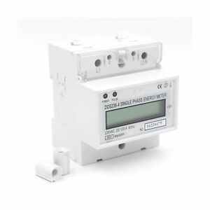 1pcs Dds238 4 20 100 Single Phase Din rail Type Kilowatt Hour Kwh Meter 220v