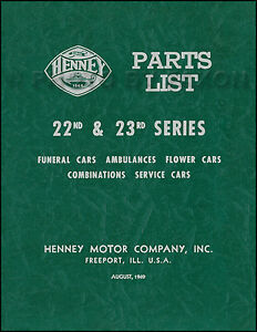 1948 1949 1950 Packard Henney Parts Book Hearse Ambulance Funeral Car Flower