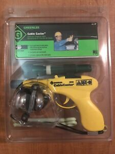 Greenlee 06186 Cable Caster Gun 50 Range Wire Pulling Tool W Flashlight