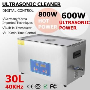 New Stainless Steel 30 L Liter Industry Heated Ultrasonic Cleaner Heater W timer