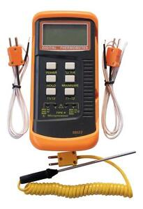 Dual Channel K Type Digital Thermocouple Thermometer 6802 Ii 2 Sensors