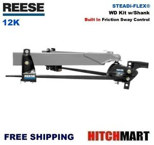 12k Reese Steadi flex Weight Distribution Trailer Hitch W Sway Control 66560