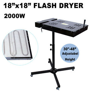 18 X 18 Flash Dryer Silk Screen Printing Equipment T shirt Curing Heating