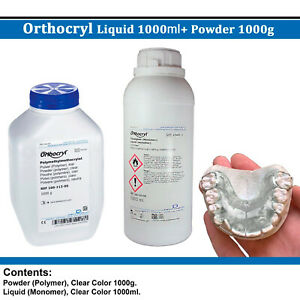 Dental Dentaurum Orthodontic Orthocryl Powder 1kg Liquid 1l Clear Acryl Resin