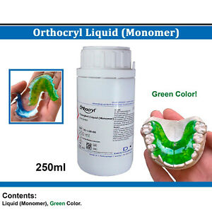 Dental Dentaurum Orthodontic Orthocryl Liquid Monomer 250ml Green Acrylic Resin